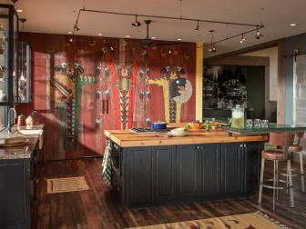 Custom-Painted Art Turns Kitchen Into Non-Traditional Showpiece