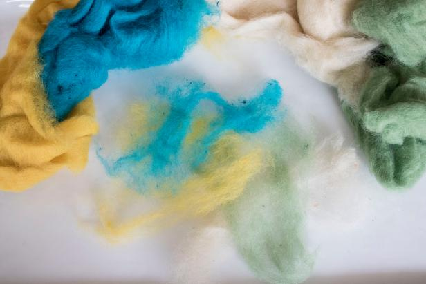 DIY felted wool soap makes a luxurious bath experience.