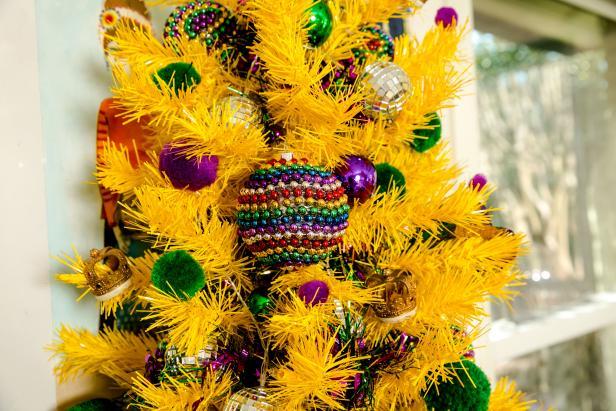 Mardi Gras Bead Ornaments