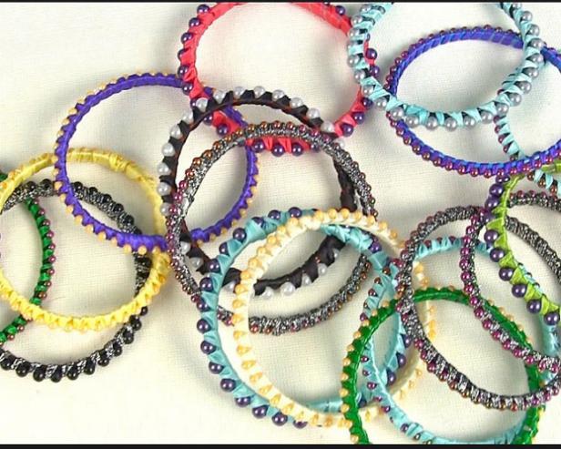 Mardi Gras Bead Bracelet