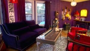 junk gypsies purple living room makeover 04 02