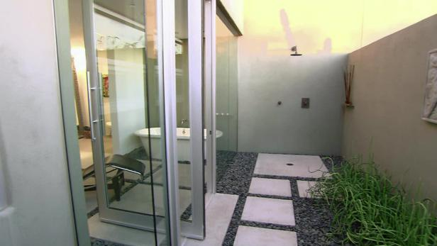 airy indoor-outdoor bathroom video | hgtv