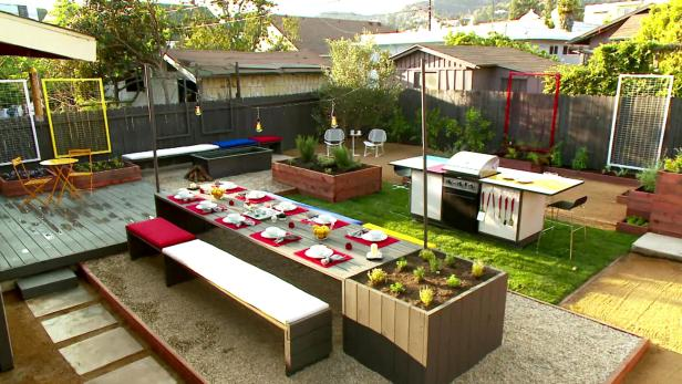 Midcentury Modern Backyard Makeover Video Hgtv