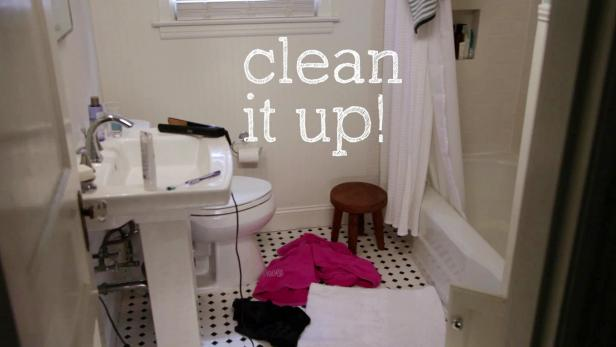 A Clean Bathroom In 5 Minutes Video Hgtv