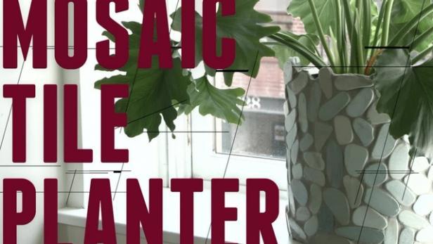 Diy Mosaic Tile Planter Video Hgtv
