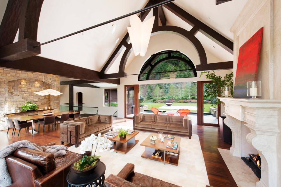 Living Room Rihanna S Vacation Rental In Aspen Colo Hgtv