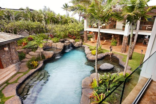 Pool: Beyonce's Vacation Rental in Kailua, Hawaii