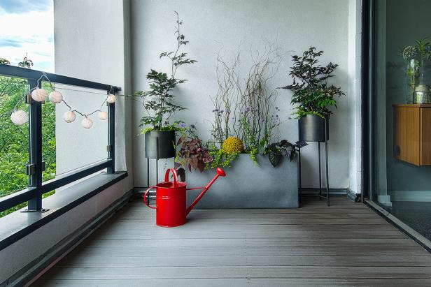 Container Garden on Modern Balcony