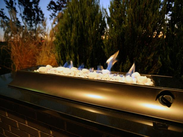 Prefab and modular outdoor fireplace options hgtv for Prefab outdoor fireplaces