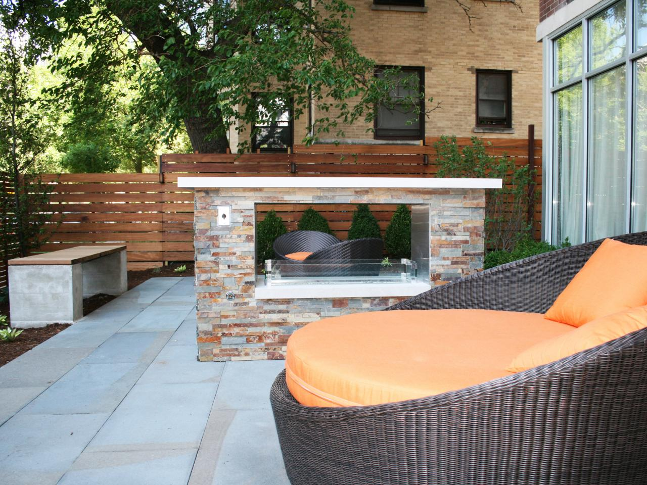 Modern Outdoor Fireplaces & Modern Outdoor Fireplace Ideas | HGTV