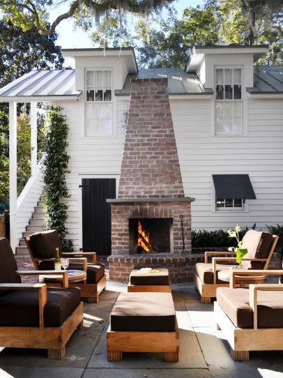Diy Outdoor Fireplace Ideas, Diy Brick Patio Fireplace