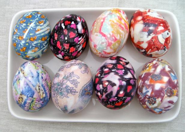 Silk-Dyed Easter Eggs