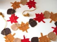 Make a Felt Garland for Fall