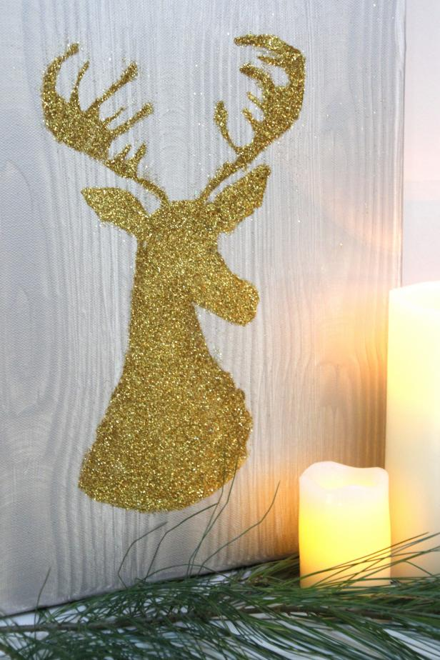DIY: Holiday Deer Silhouette