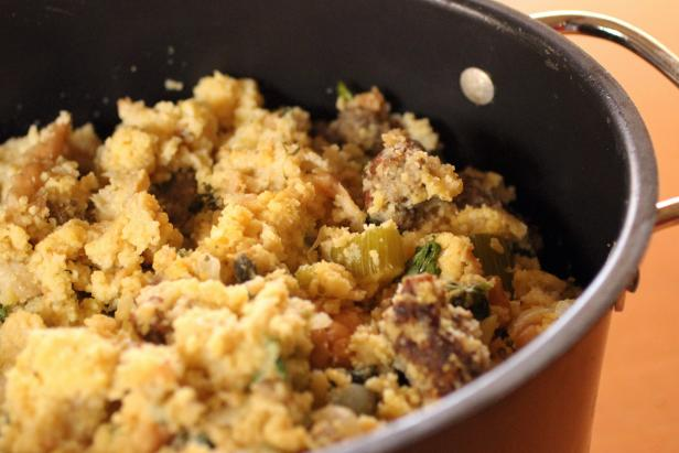 Crock Pot Cornbread Stuffing with Kale