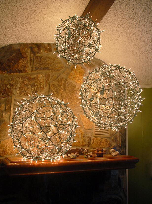 Diy Christmas Light Balls Hgtv