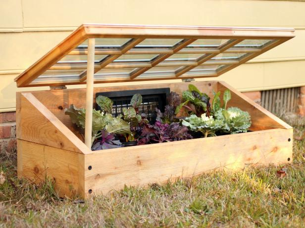 Wood and Window Cold Frame