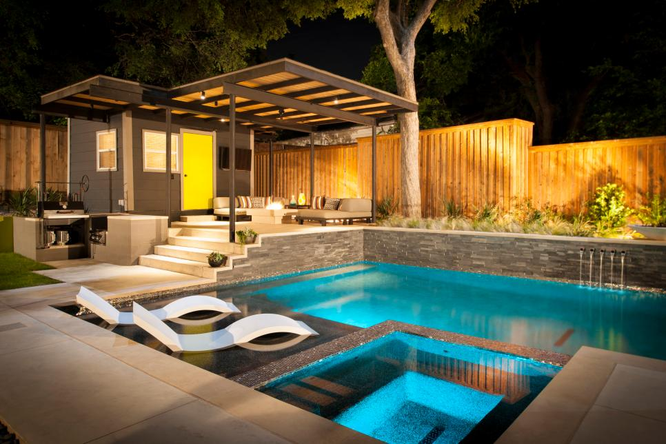 Outdoor home pool  Amazing Pool Houses | HGTV