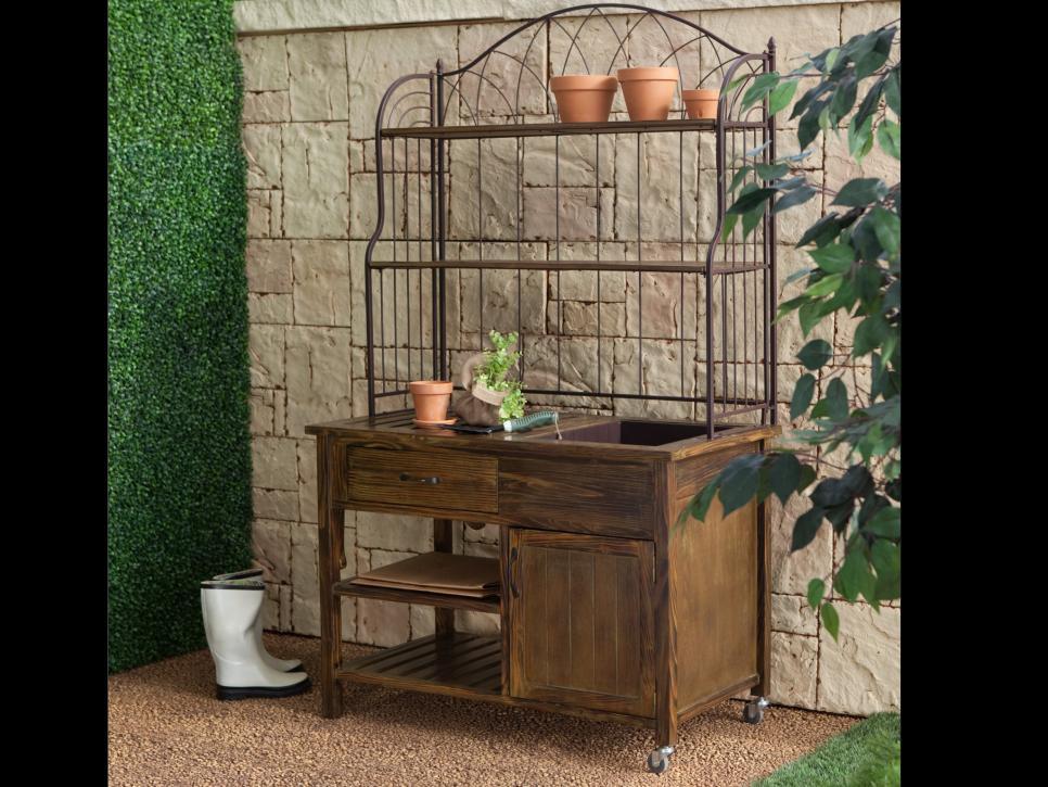 Modern Potting Benches For Garden