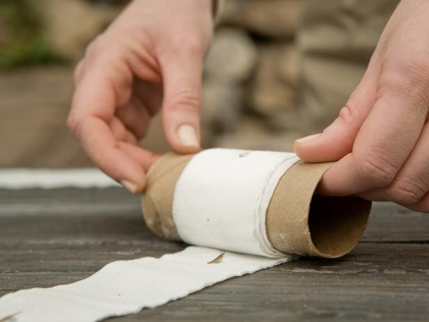 Once your seed tape is dry, you can roll it back onto the cardboard toilet paper tube and store it in a cool, dry place until you're ready to plant.