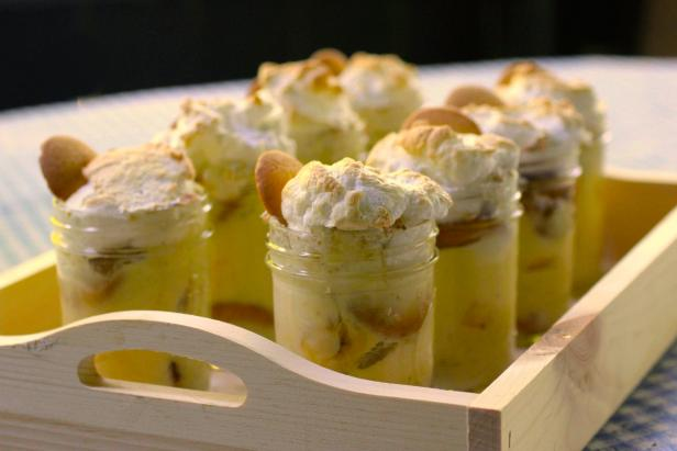 Mason Jar Banana Pudding