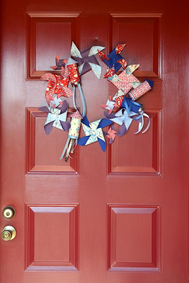 Rocket and Pinwheel Wreath