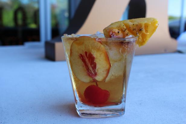 Grilled Peach Old Fashioned