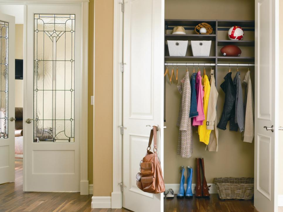 Open Foyer Closet : Top closet door designs hgtv