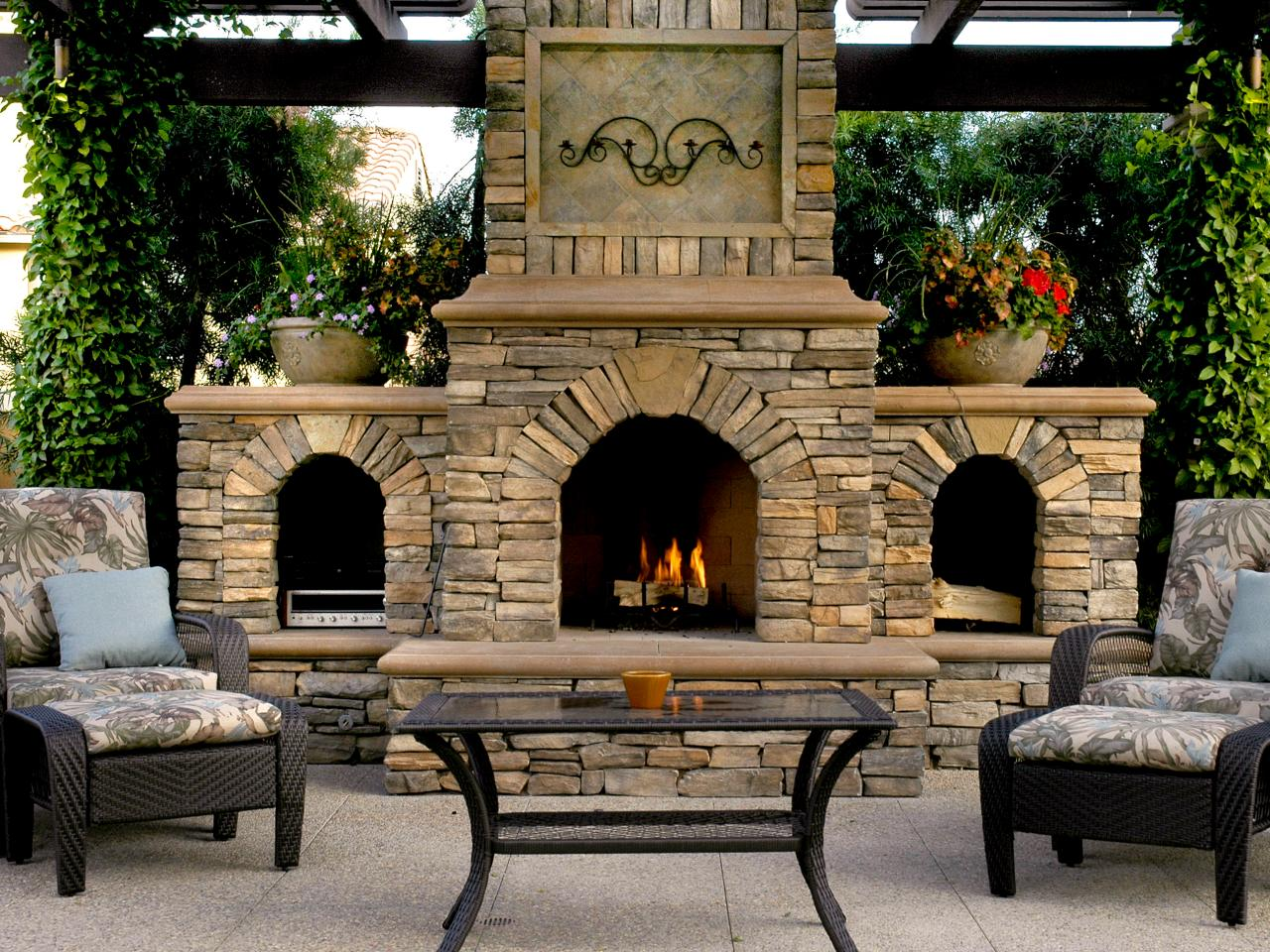 Explore your options for an outdoor wood burning fireplace