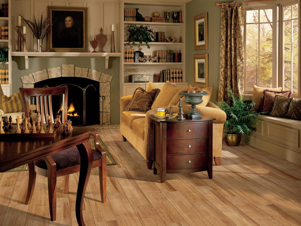Laminate flooring options hgtv for Cheap flooring ideas for living room