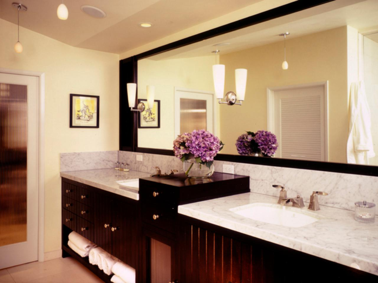 Designing Bathroom Lighting | HGTV on master bathroom design examples, master bathroom light, master bathroom color ideas, master bathroom color palettes, master bathroom interior design, master bathroom with jacuzzi tub, master bedroom lighting design, master bathroom layout design, master bathroom tile designs,