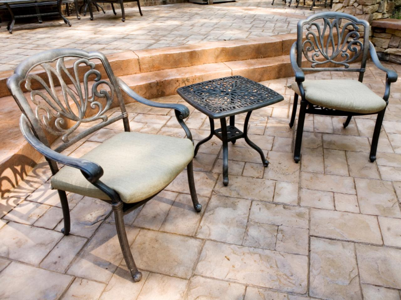 Choosing Materials For Your Patio HGTV - Cost to lay outdoor tiles