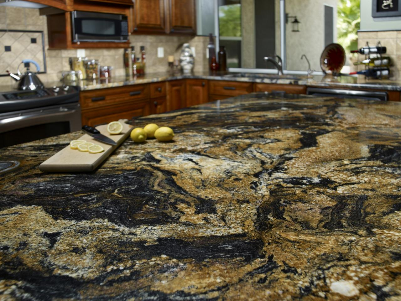 Granite kitchen countertop hgtv for 3 4 inch granite countertops