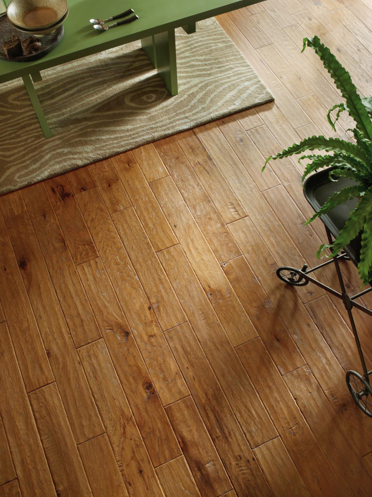 Eco Friendly Option. Distressed Hardwood Floors ...