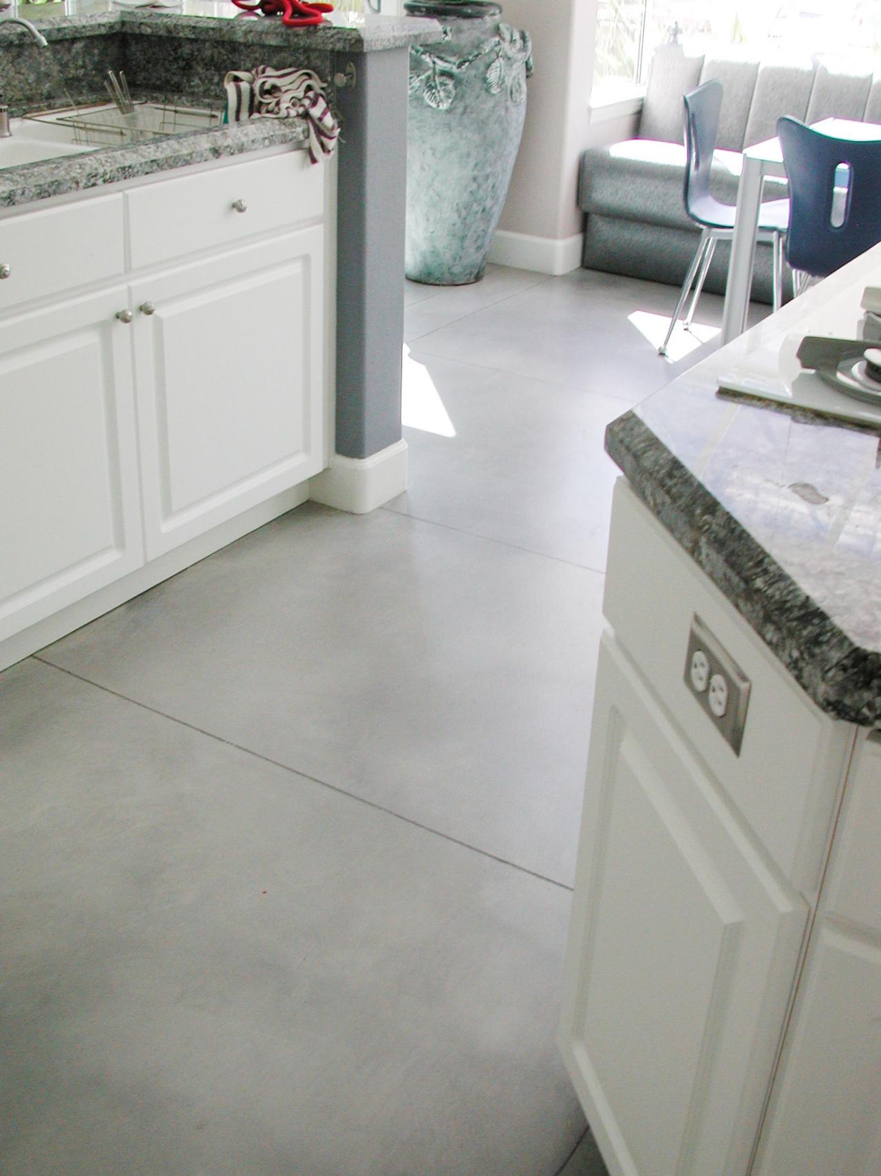 Cheap Kitchen Flooring Ideas Part - 29: Versatile Concrete Floors