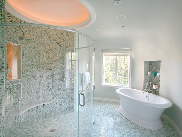 Feng Shui Principles Create Energy in Master Bath
