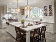 Kitchen Island Adds Seats, Prep Space and Storage
