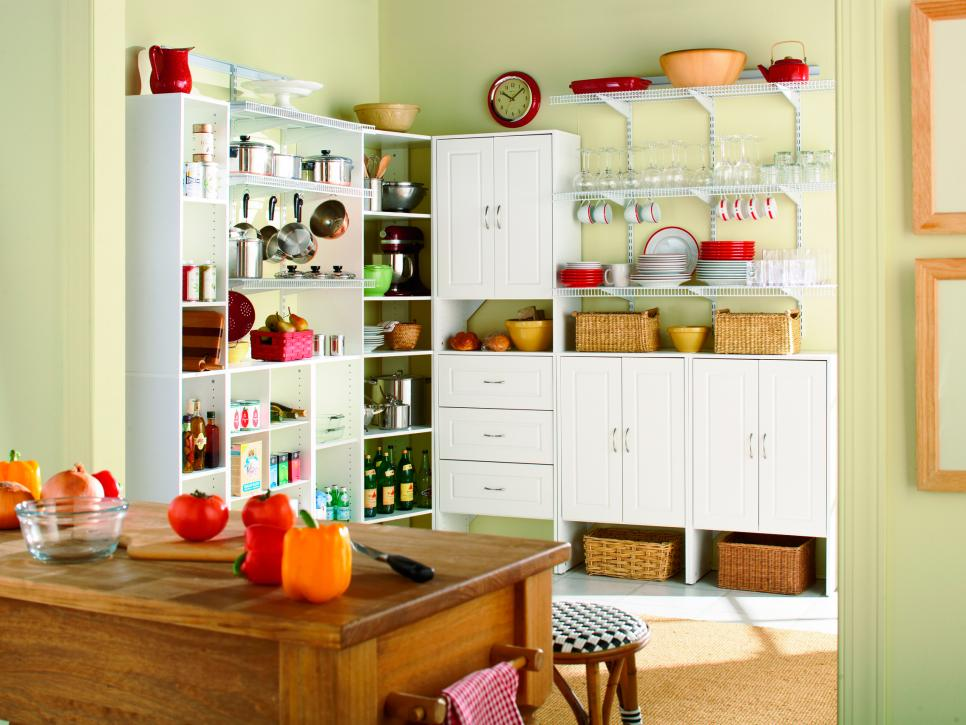Pictures of kitchen pantry options and ideas for efficient for Kitchen closet ideas