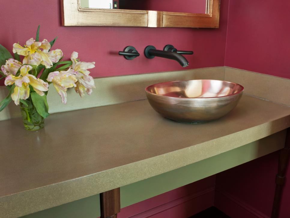 Bathroom countertop styles and trends hgtv for 3 4 inch granite countertops