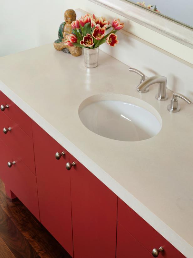 Concrete Bathroom Countertops Hgtv