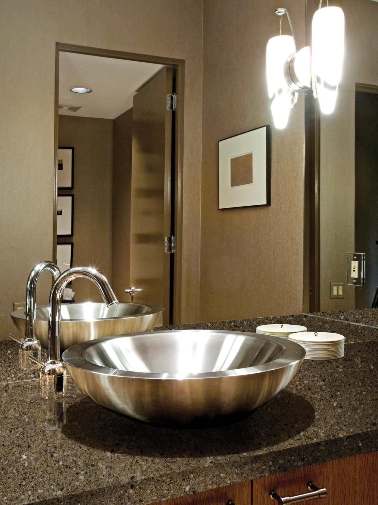 Room Vanity Countertops : Choosing bathroom countertops hgtv