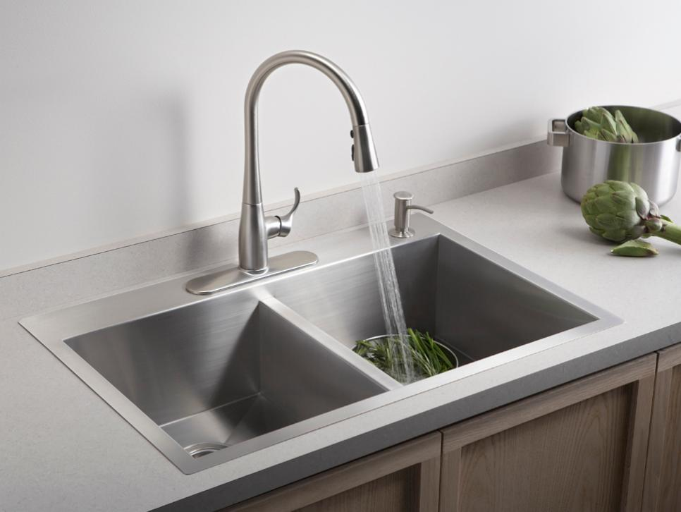 kitchen sink styles and trends hgtv rh hgtv com kitchen sink styles materials kitchen sink style meaning