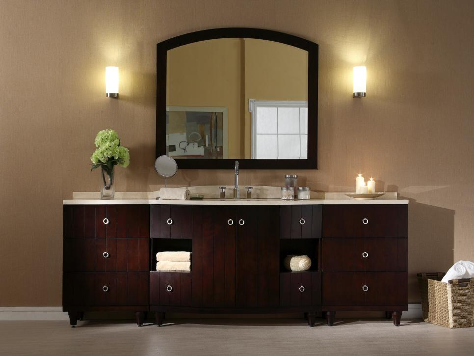 Bathroom Lighting Styles And Trends HGTV - Bathroom vanity lights with shades
