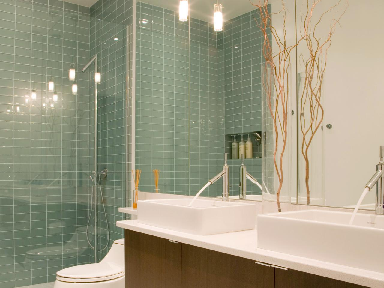 Reaching The Greatest Basement Bathroom Remodel Concepts Contemporary Bath with Glass Tile Walls