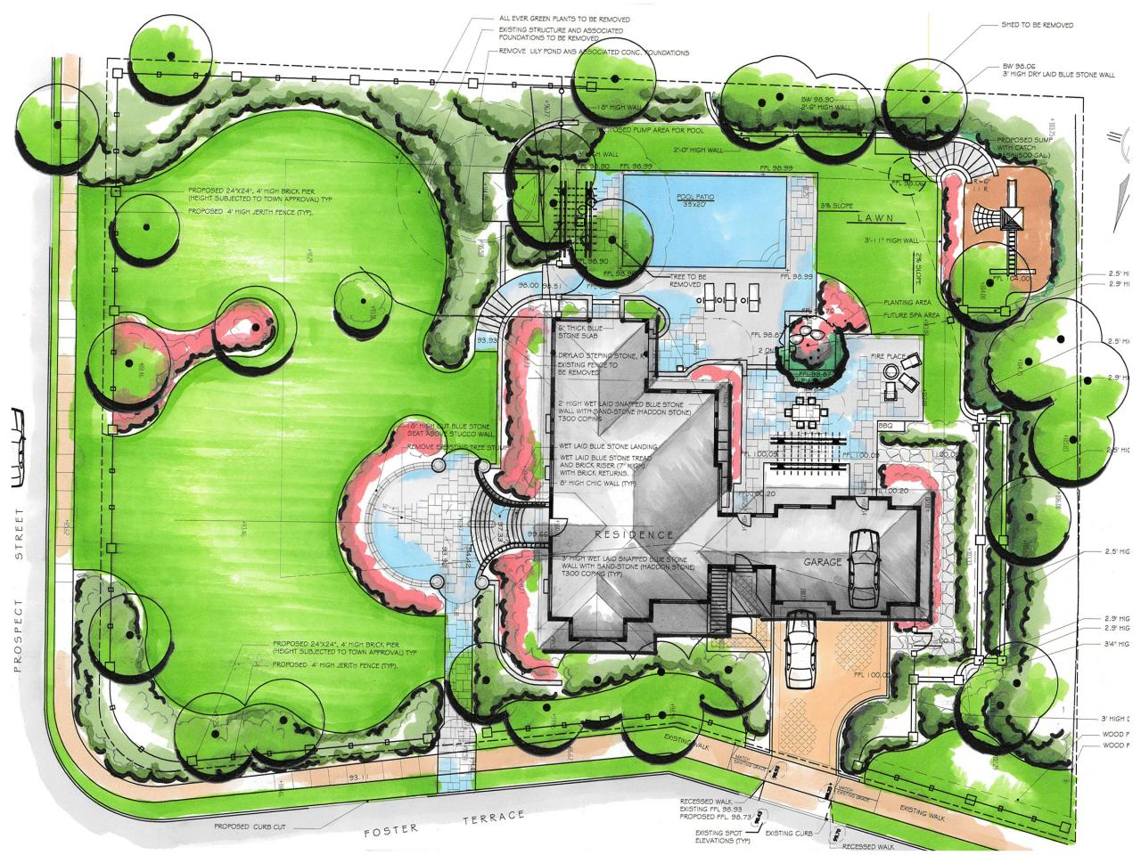How to plan a landscape design hgtv for Example of landscape drawing
