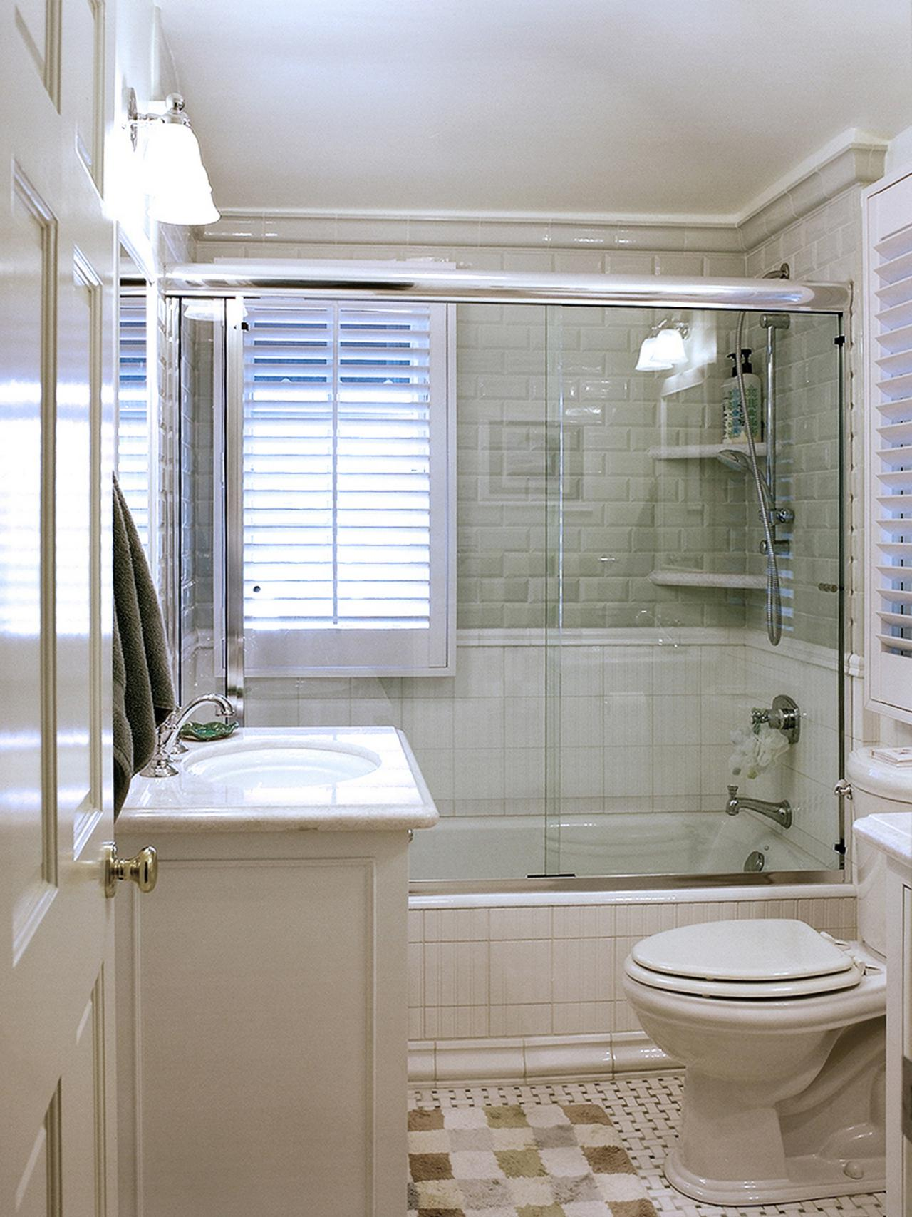 Designing a full bath hgtv for Small full bathroom designs
