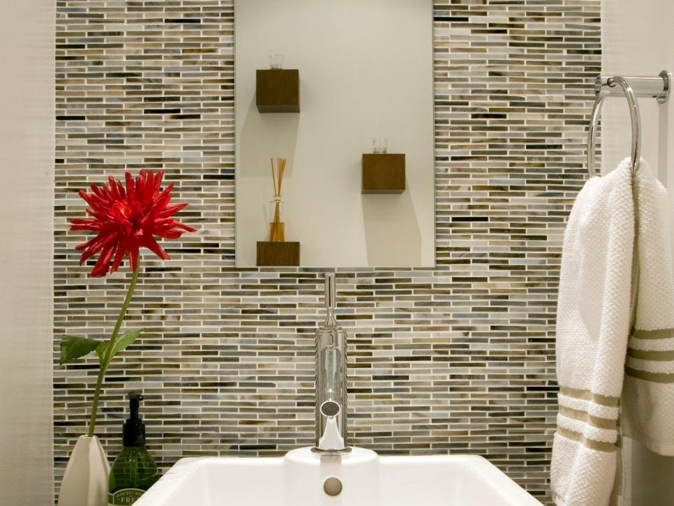 Bathroom Backsplash Styles And Trends HGTV - Pictures for bathrooms walls