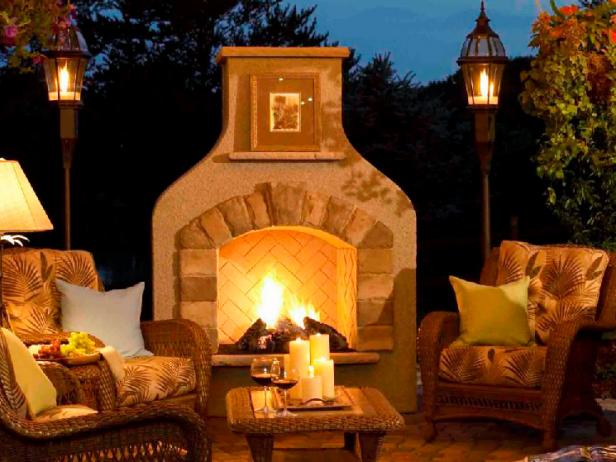 Outdoor Great Room Fireplace Lantern