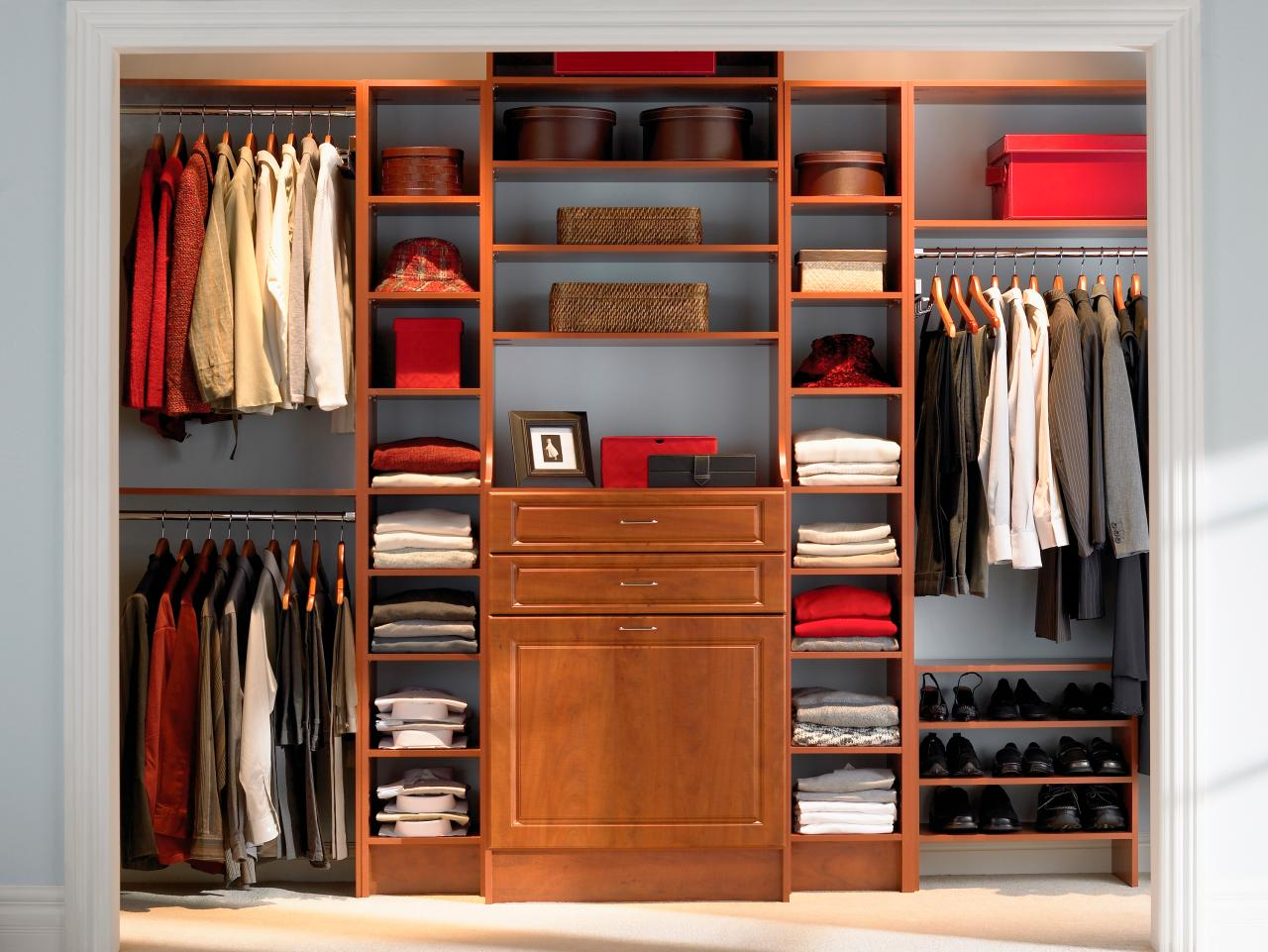 Master Closet In Warm Colors
