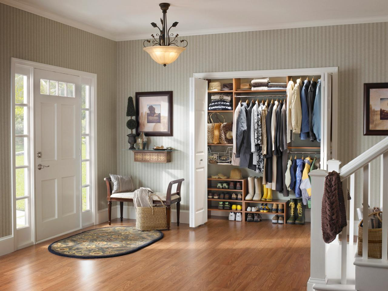 entryway janssen closet milano solutions california cabinet organization grey storage entryways closets entry gllry lago
